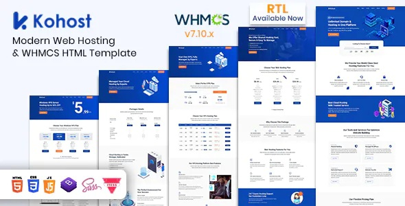 Best Modern Web Hosting & WHMCS Template