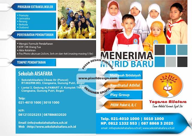 Iklan Brosur Pendidikan Pendaftaran Sekolah TK