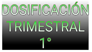 DOSIFICACIÓN TRIMESTRAL-1°