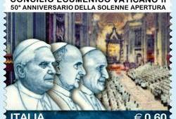 Sello de Italia. 50 aniversario Concilio Vat.II