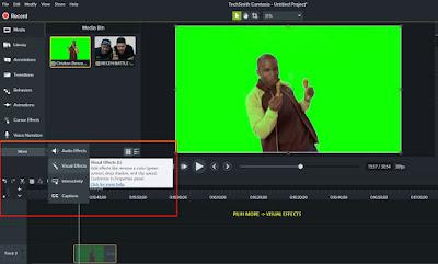 cara edit video green screen dengan camtasia