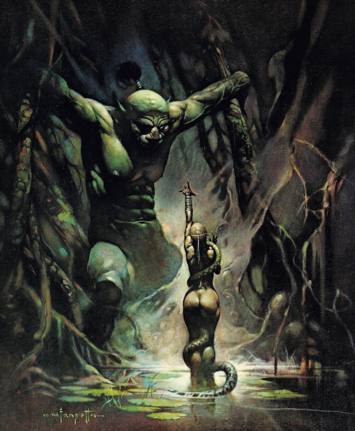 Cap'' Comics Swamp Demon Frank Frazetta
