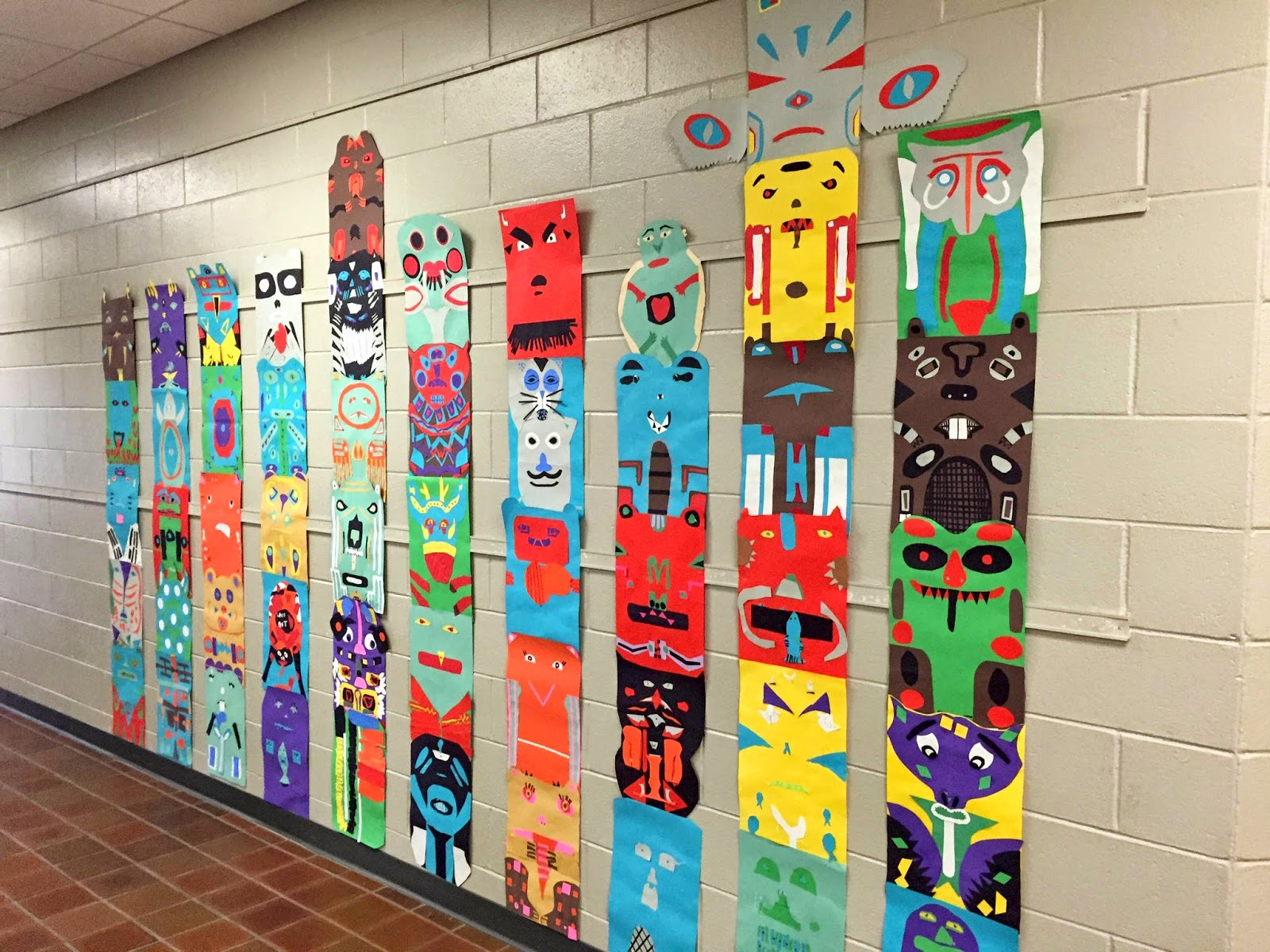 Thomas Elementary Art 4th Grade Totem Poles