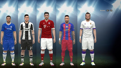 PES 2016 Kits Pack 2016/17 by Medhat Sami