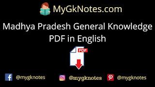 Madhya Pradesh General Knowledge PDF in English