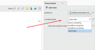 Parameter Split Data Rapidminer
