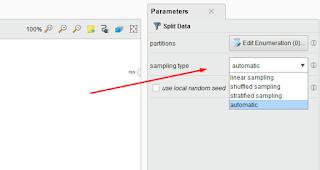 Parameter Split Data Rapidminer