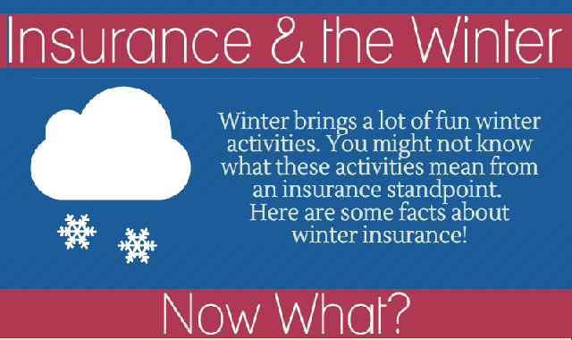 Insurance & The Winter #infographic