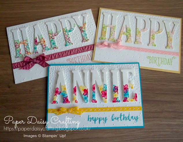 Nigezza Creates With Stampin' Up! friends Paper Daisy Crafting using the Large letter dies