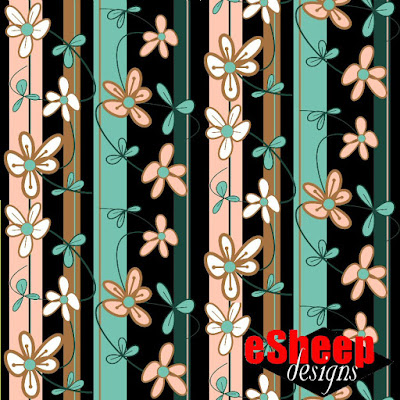 Floral Vines by Night fabric by eSheep Designs