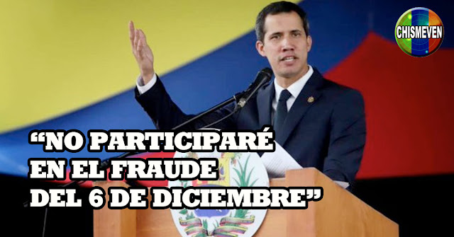 A DARLE APOYO | Juan Guaidó confirma que No participará en el Fraude del 6-D