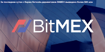 За последние сутки с биржи биткойн-деривативов BitMEX выведено более $85 млн