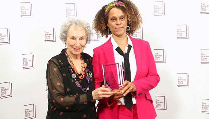 Margaret Atwood and Bernardine Evaristo joint champs of Booker Prize