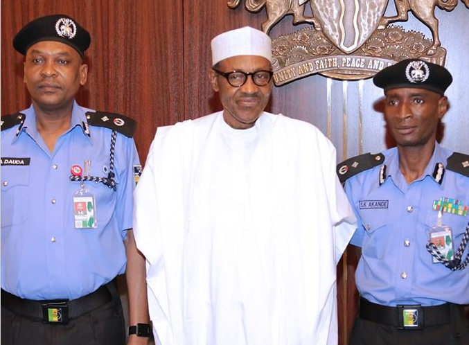 buhari police guards