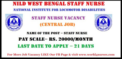 National Institute for Locomotor Disabilities (NILD Kolkata) Recruitment 2018