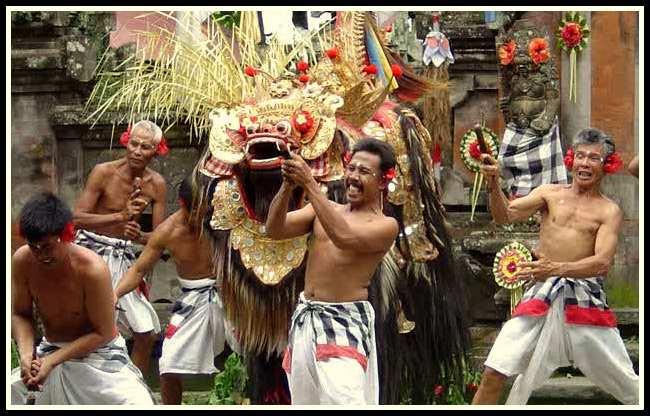 tari barong tarian tradisional dari bali negeriku indonesia negeriku indonesia