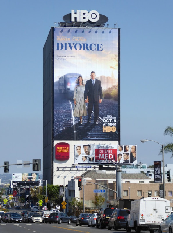 Giant Divorce series launch billboard