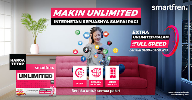 Smartfren Unlimited Malam