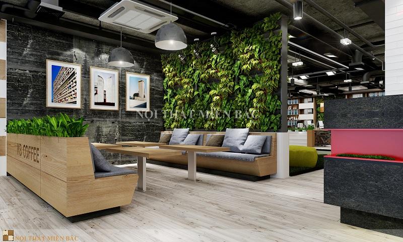 Thiết kế không gian phòng chờ xanh cho văn phòng