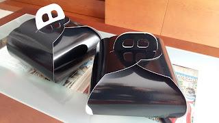 caja cartón negra plastificado brillo