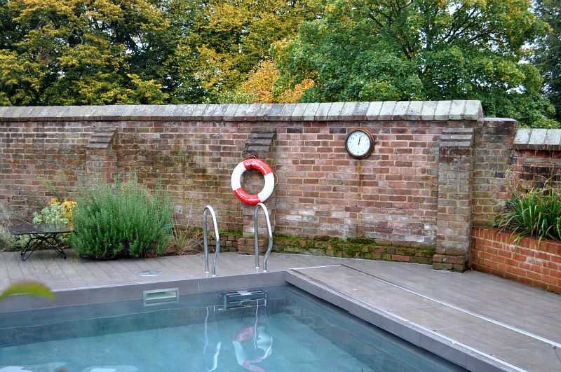 Outdoor heated pool and spa magdalen chapter hotel