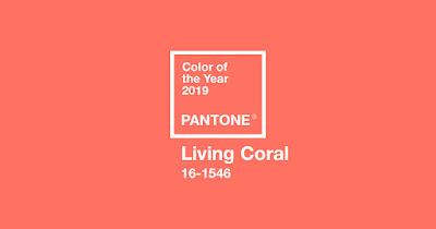 Màu sắc của năm 2019 Living Coral (màu san hô)