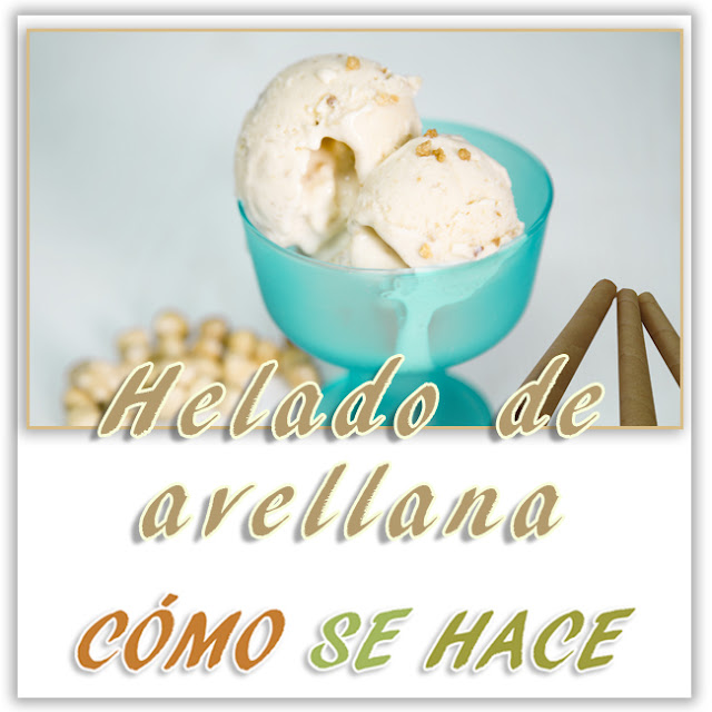 Helado De Avellana Casero