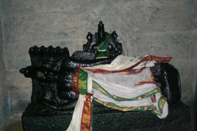 Closer View Of Lord Ranganathar In An Unusual Posture