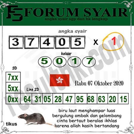 Forum Syair HK Rabu 07 Oktober 2020