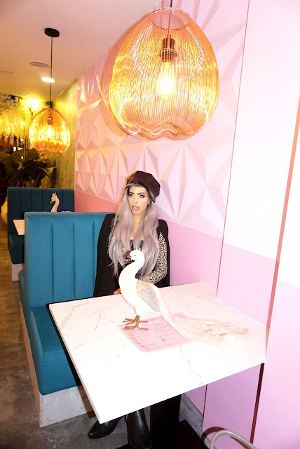 Beauty blogger Savana rae at the Knot churros South Kensington London