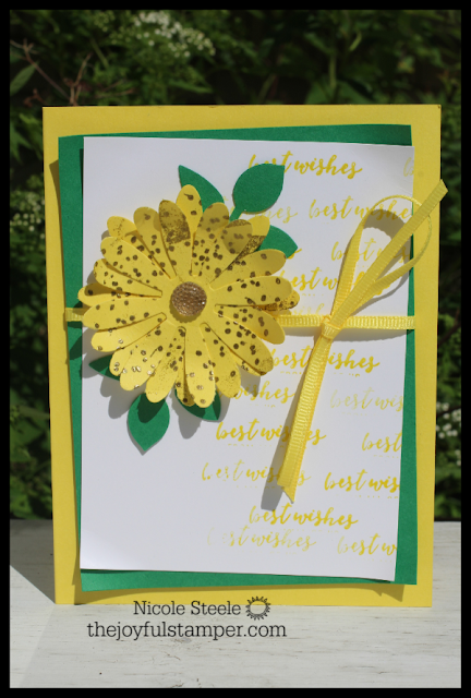 Pineapple Punch 2018-2020 In Color card using Daisy and Leaf punches, Itty Bitty Greetings