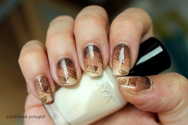 Cappuccino nail art