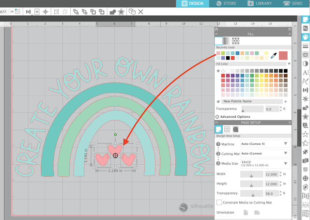 silhouette studio, fill color, fill color tool, tracing, trace by color