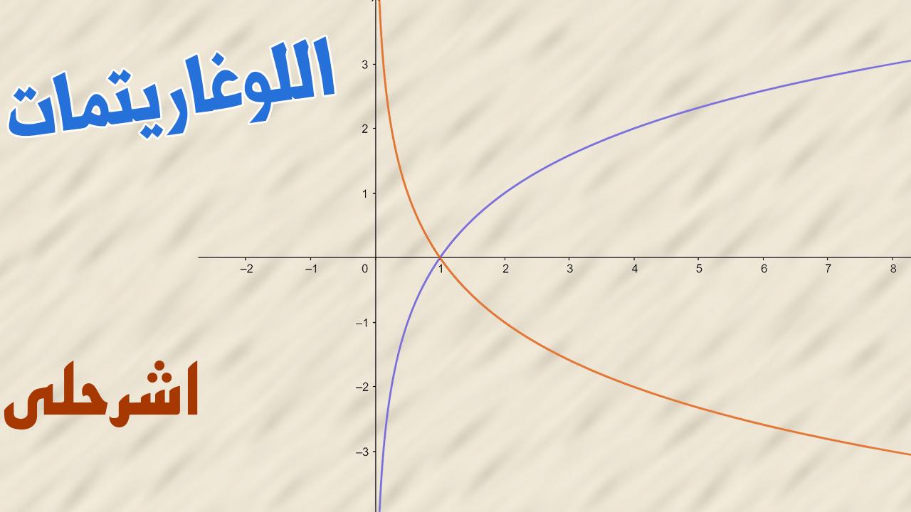 اللوغاريتمات والدوال اللوغاريتمية ثالث ثانوي الفصل الدراسي الاول رياضيات 5 المستوى الخامس الدرس 3 2 Eshrhly اشرحلي