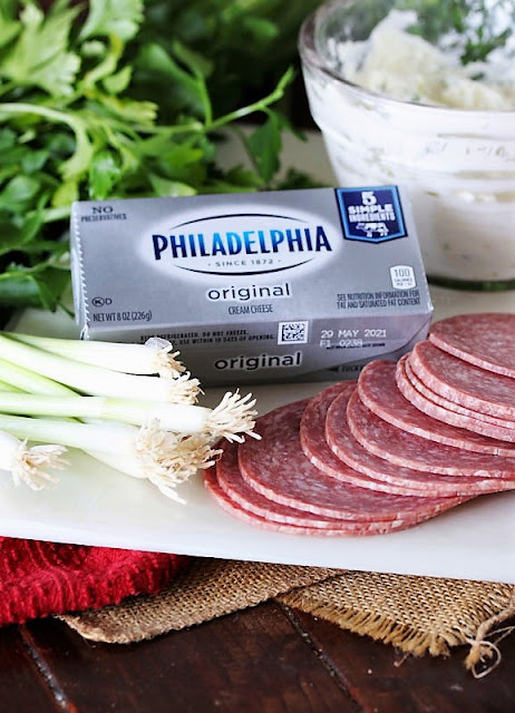 Salami Cream Cheese Roll-Ups Ingredients Image