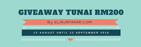 Senarai Peserta Giveaway Tunai RM200 By ELIHJAPAHAR.COM