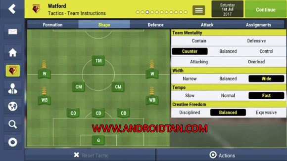 Football Manager Mobile 2018 Apk for Android