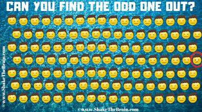 Answer to Find the Emoji Brain Teaser