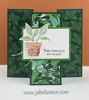 VIDEO: Stampin' Up! Plentiful Plants Accordion Fun Fold Card ~ 2021-2022 Stampin' Up! Annual Catalog ~ www.juliedavison.com #stampinup