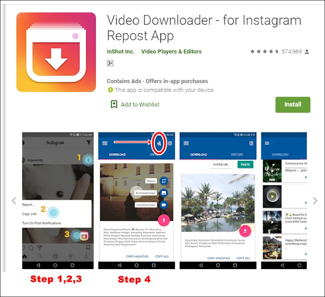 Aplikasi download video dan gambar instagram
