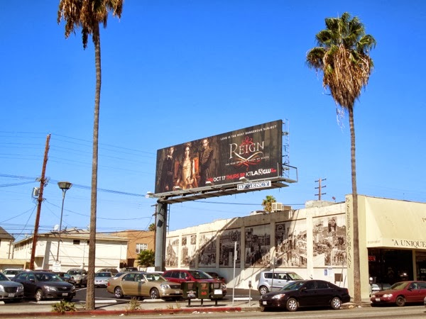 Reign TV billboard