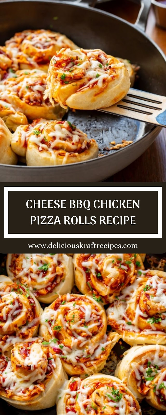 CHEESE BBQ CHICKEN PIZZA ROLLS RECIPE