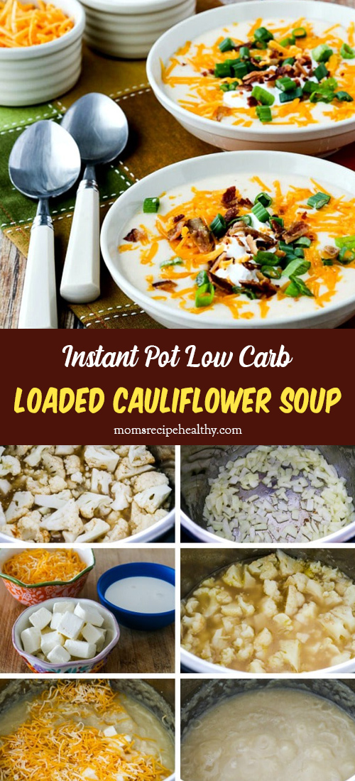 Instant Pot Low-Carb Loaded Cauliflower Soup