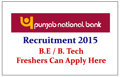 Punjab National Bank Recruitment 2015 for Officers