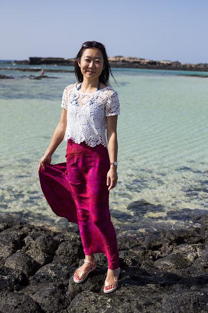 Vintage Butterick 5884 maxi skirt batik