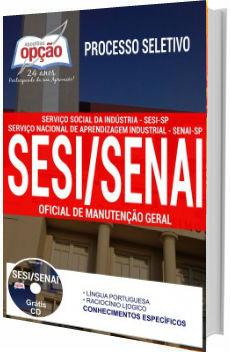 Apostila concurso SESI SENAI SP 2017 - Oficial de Manutenção Geral
