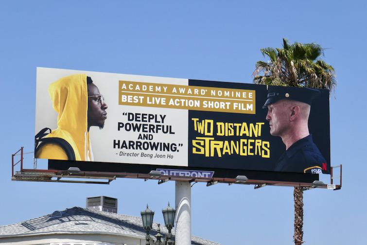 Two Distant Strangers Oscar nominee billboard