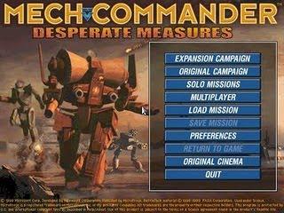 Freeware Real-Time Strategy (RTS) Game Battletech - MechCommander