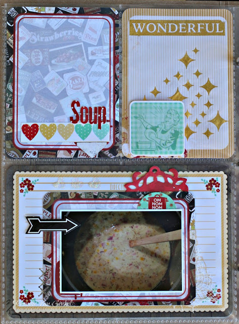 BoBunny Misc Me featuring Kiss The Cook and Sugar Glitter Paste designed by Rhonda Van Ginkel