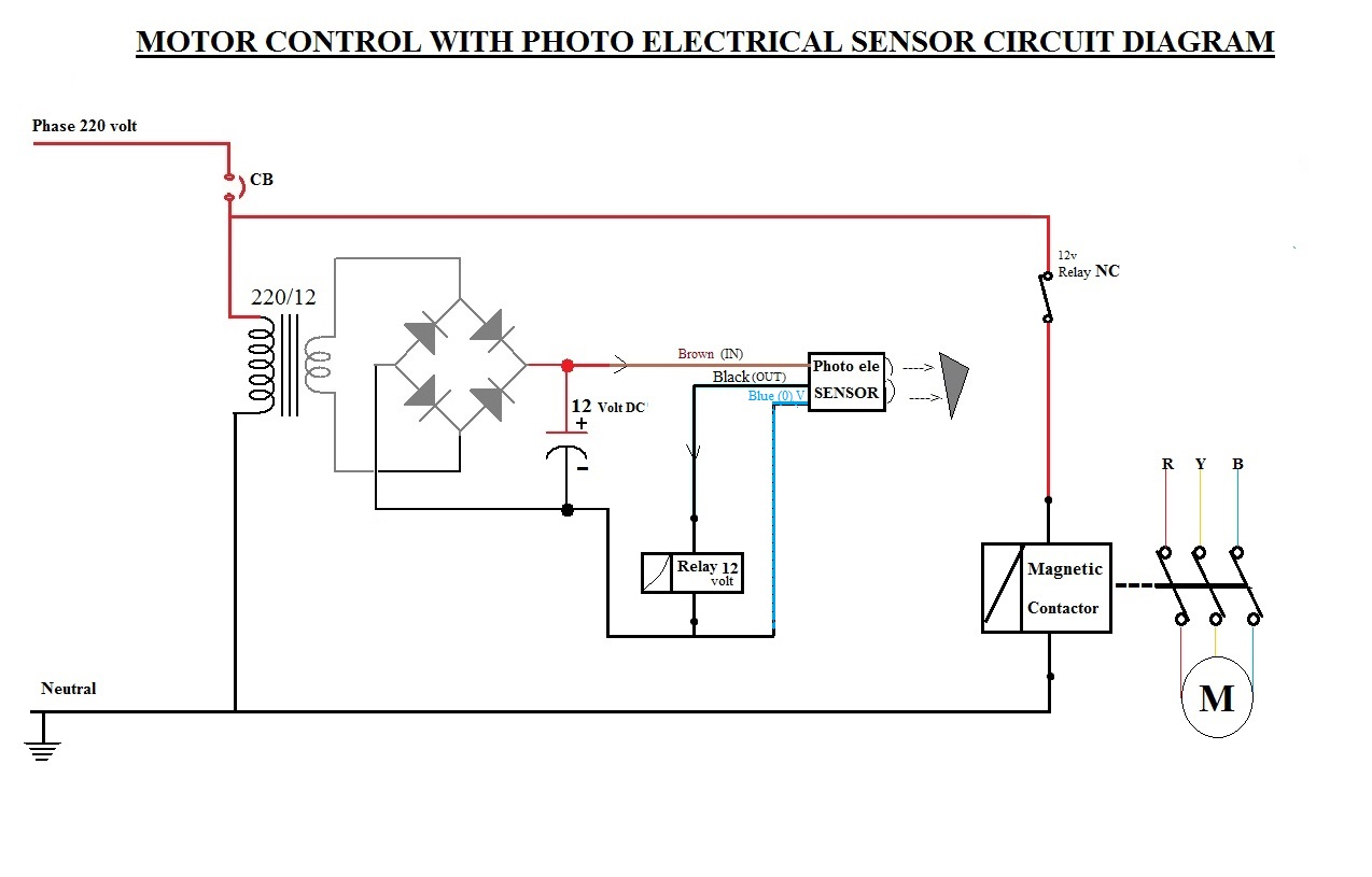 Motor Circuits   Photo Electric Sensor Motor Control Circuit
